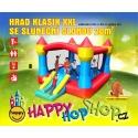 Happy Hop Extra velký skákací hrad Klasik XXL se sluneční clonou