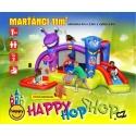 Happy Hop Marťánci skákací hrad se skluzavkou, hrací míčky 30ks
