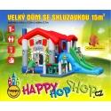Happy Hop Velký dům 9 v 1 se skluzavkou, velkou skákací plochou a míčky na hraní