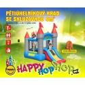 Happy Hop Pětiúhelníkový hrad se skluzavkou. Happy Hop skákadla.