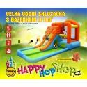 Happy Hop Velká vodní skluzavka s bazénkem. Skluzavka na zahradu nafukovací.