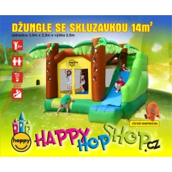 Džungle se skluzavkou happy hop 9164