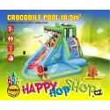 Happy Hop Crocodile Pool vodní skluzavka s bazénkem Happy Hop hrady na zahrady