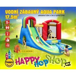 Happy Hop vodní zábavný aqua park  17,5m2 Happy Hop 9074N