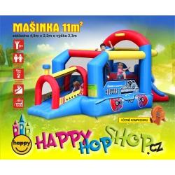 Párty Lokomotiva Happy Hop, skákací hrad + doprava zdarma