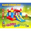 Happy Hop Klasik střední nafukavací atrakce a skluzavkou