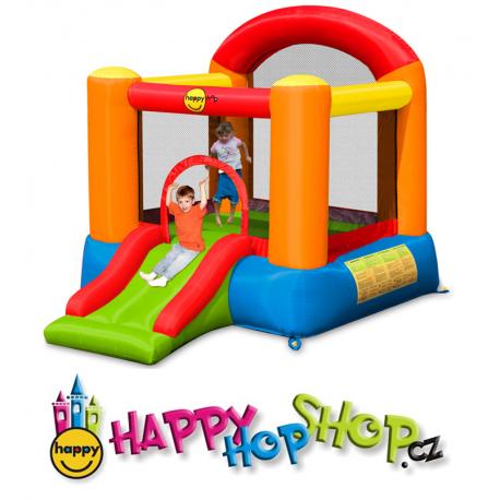 Pestrý Happy Hop skákací hrad se skluzavkou