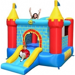 Rytířský skákací hrad se skluzavkou Happy Hop