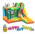Happy Hop Džungle skákací hrad se skluzavkou a zvířátky