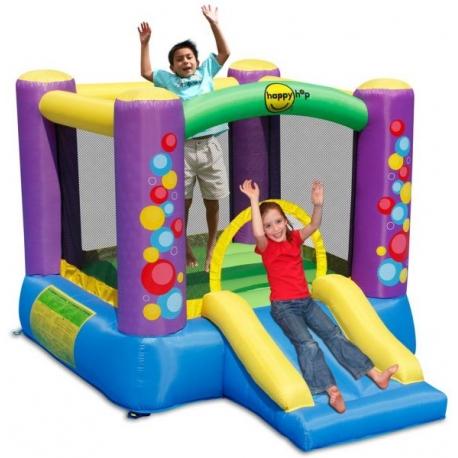 Happy Hop Skákací hrad barevné bublinky se skluzavkou