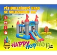 Pětiúhelníkový hrad se skluzavkou happy hop 9018N
