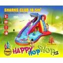 Happy Hop Sharks Club vodní skluzavka s bazénkem, fukar,taška,kolíky