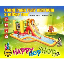 Vodní aqua park Play centum s míčky Happy Hop