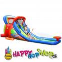 Happy Hop Hot Summer velká vodní dvoj-skluzavka s fukarem