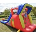 Happy Hop Hot Summer velká vodní dvoj-skluzavka s fukarem, Happy Hop 9129