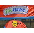 Happy Hop 9215 Párty dům Fun House, skákací hrad se skluzavkou