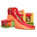 Happy Hop Play centrum 11 v 1 multifunkční hrací a skákací centrum se skluzavkou, tunelem, hracími míčky a překážkami