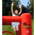 Happy Hop Veselý dům MUSIC interaktivní nafukovací hrad s osmi tlačítky pro světla a zvuk