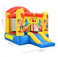 Happy Hop 9304Y Skákací hrad Klaun se skluzavkou a basketbalovým košem