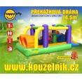 Happy Hop Překážková dráha velká nafukovací hrad s překážkami, tunelem a skluzavkou, happy hop 9063