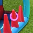 Happy Hop 9163 Fun park skákací hrad s překážkami a skluzavkou Racing Fun Bouncer