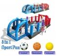 Happy Hop Nafukovací multifunkční hřiště, fotbal, basketbal, volejbal, ragby. Hrací centrum happy hop 9172N