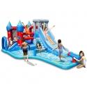 Happy Hop Velký vodní Rytířský skákací hrad s bazénem