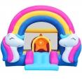 Happy Hop 8004 Půlnoční jednorožec - skákací hrad Fantasy Unicorn Music