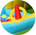 Skákací hrad se skluzavkou, tunelem a míčky, Dobrodružné hrací centrum Happy Hop 9160N