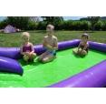 Velká vodní dvoj-skluzavka s bazénkem happy hop 9029