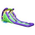 Happy Hop Velká vodní dvojitá skluzavka s bazénkem. Nafukovací atrakce pro děti skákací hrad.