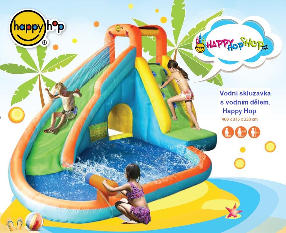 Happy hop 9117N water slide with pool and cannon Vodní skluzavka s vodním dělem.