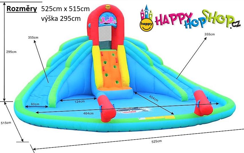 Happy Hop 9135 velké vodní skluzavky