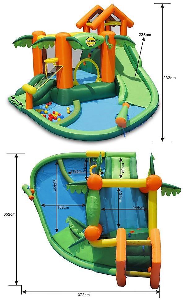 Happy Hop 9364 Tropický ráj, vodní play centrum