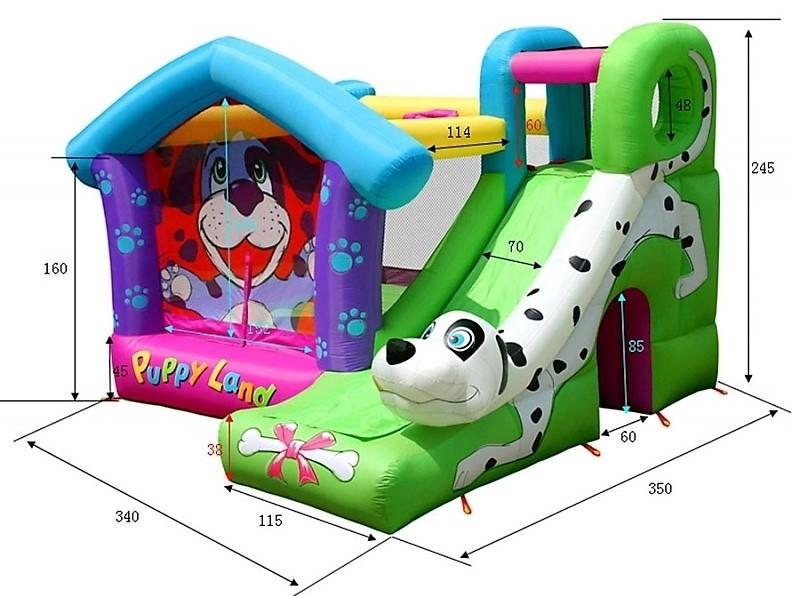 Happy Hop 9109 Puppy Land Pejsek Dalmatin skákací hrad