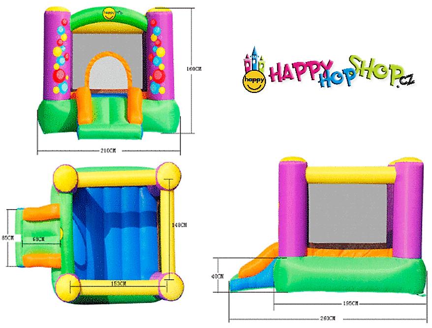 9201B Bubble Slide Bouncer Bublinky Happy Hop
