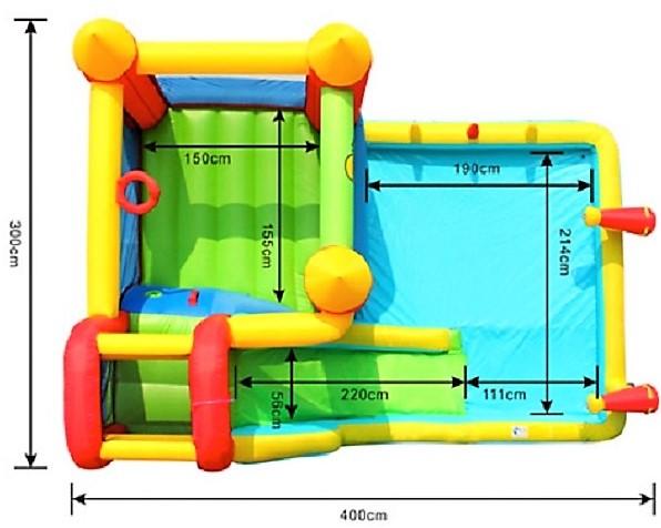 Skákací hrad Vodní skluzavka 9247
