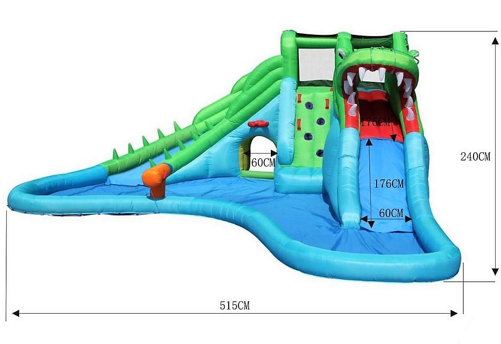 Happy Hop Crokodille 9517 big water slide