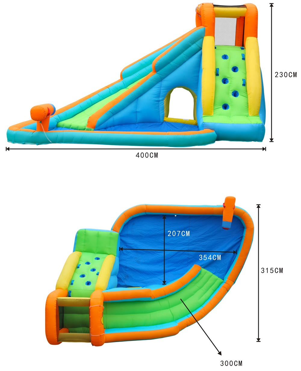 Happy Hop 9117N Water slide with pool and cannon
