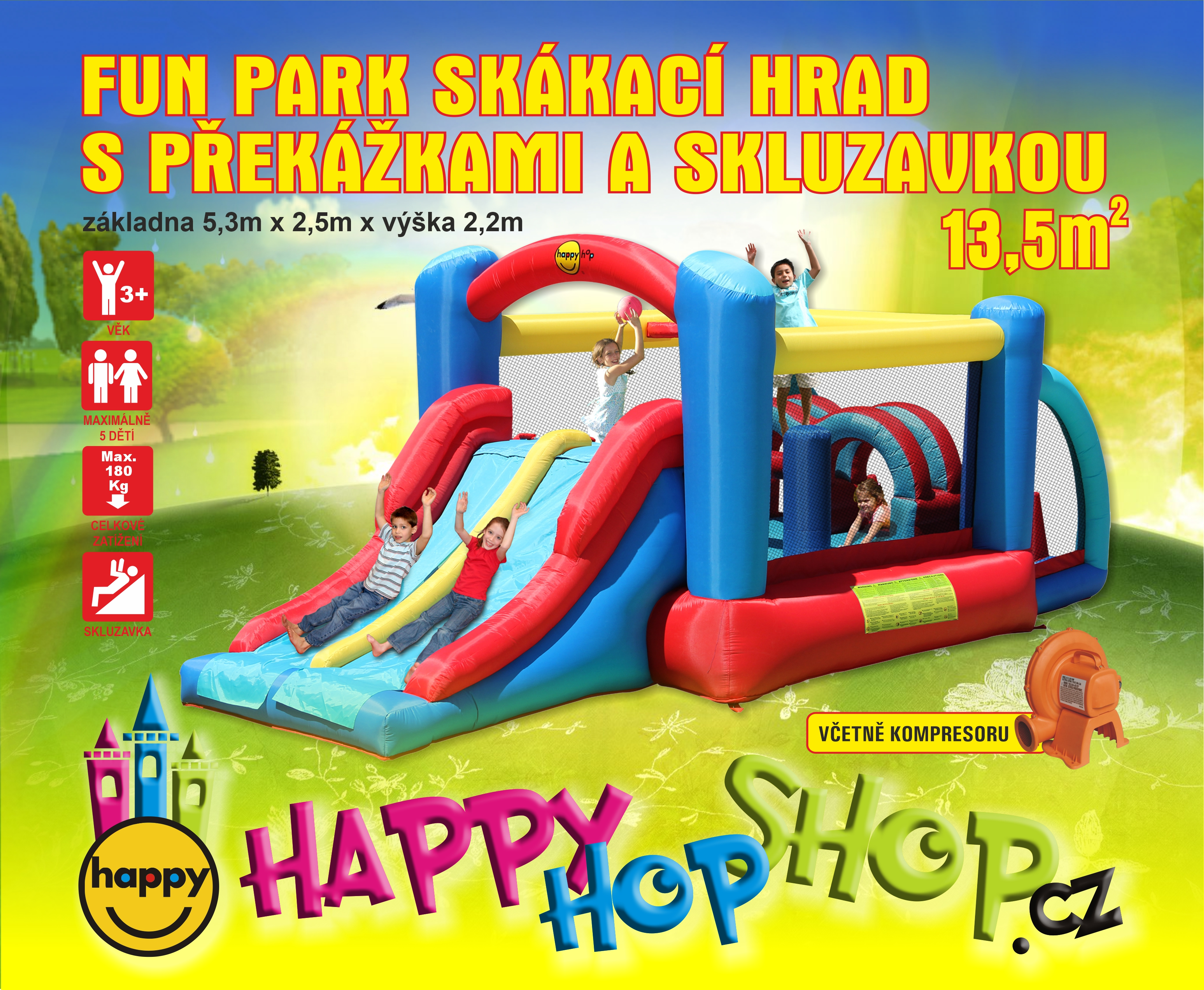 Happy Hop 9163 Ricing Fun Bouncer
