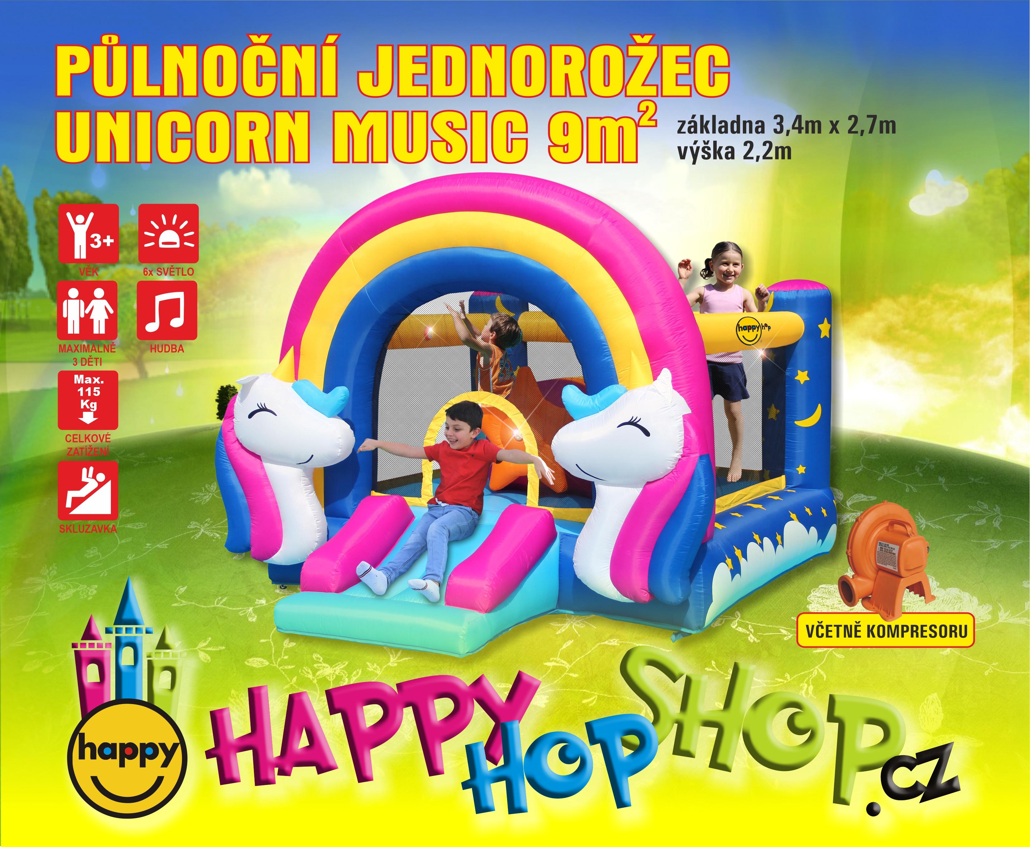 Happy Hop 8004 skákací hrady Bouncer Fantasy Unicorn