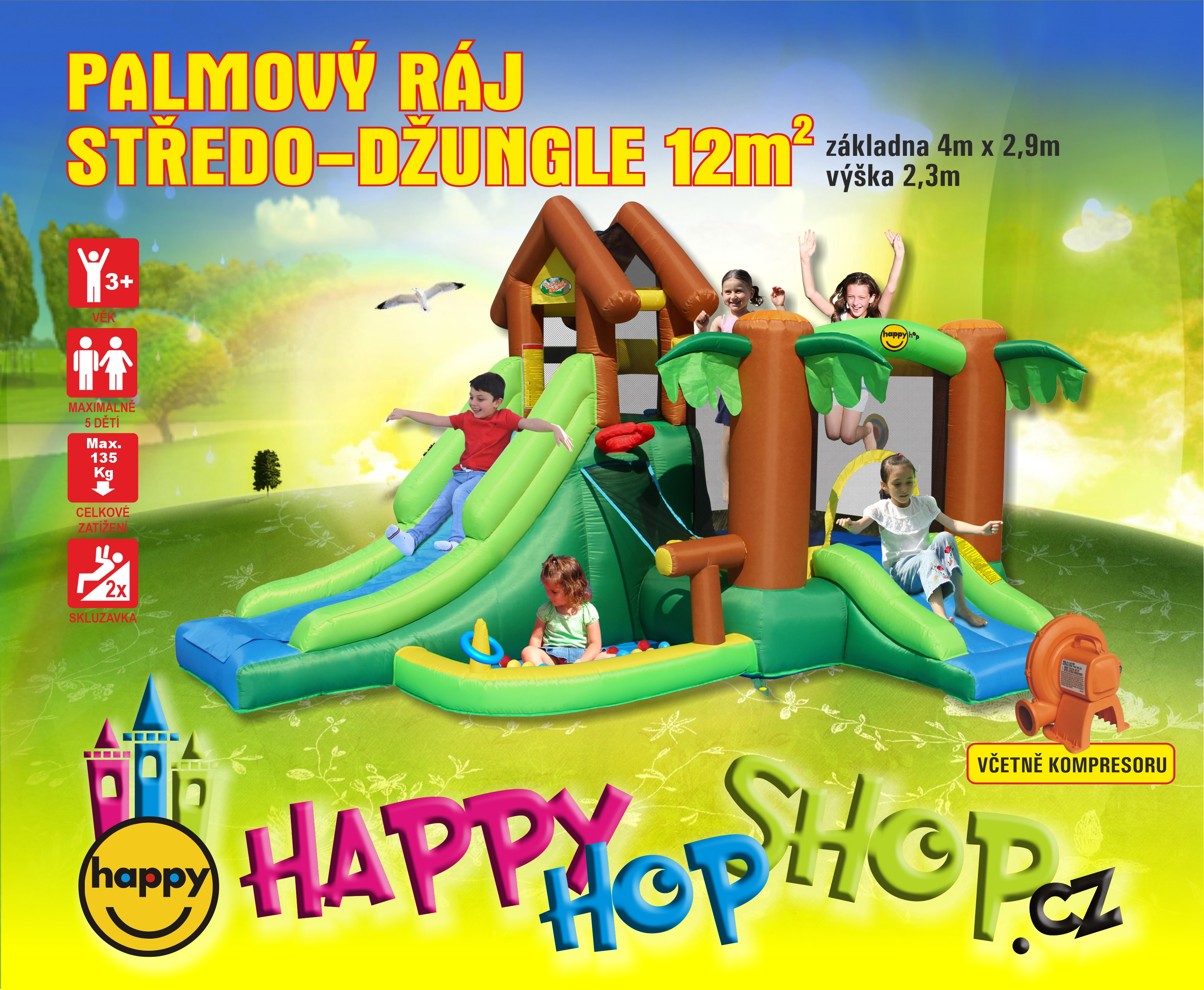 Happy Hop 9071F Pohádkový les The Forest Bouncer