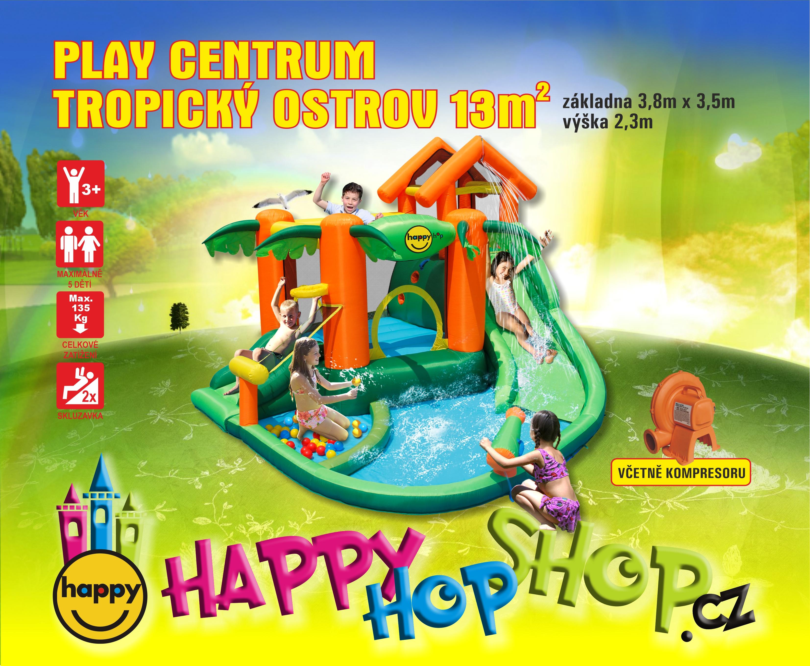 Happy Hop 9364 Tropický ostrov skákací hrad Tropical Play Centre